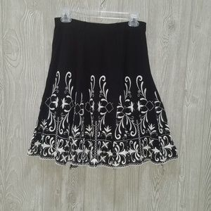 DEX Fresh A Line Skirt Embroidered Small